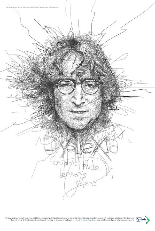 O-artista-Vince-Low,-cria-ilustrações-de-famosos-para-uma-campanha-sobre-a-Dislexia