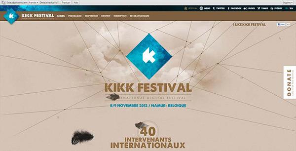 Belo site da KIKK FESTIVAL