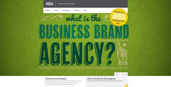 Exemplos de sites - ABA AGENCY
