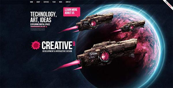 Exemplos de sites - CREATIVE 9