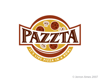 Logotipo Pizzaria Pazzta