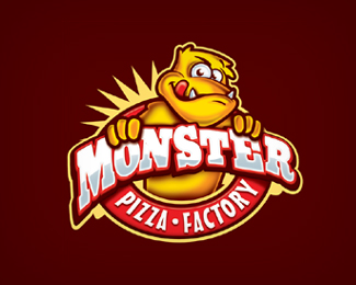 Logotipo Pizzaria Monster
