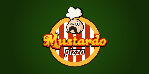 Logotipo Pizzaria Mustardo