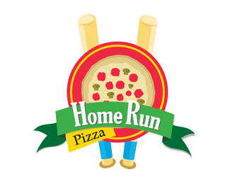 Logotipo Pizzaria Home Rum