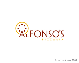 Logotipo Pizzaria Alfonso´s